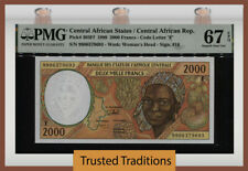 TT PK 303Ff 1999 CENTRAL AFRICAN STATES 2000 FRANCS PMG 67 EPQ ONLY TWO FINER!