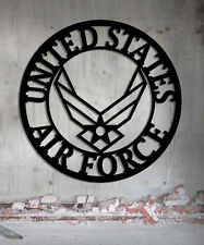 US Air Force - Metal Sign - Steel Sign 23 x 23  Handmade USA