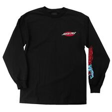 Santa Cruz Screaming Phillips Hand Long Sleeve Skateboard Shirt Black Xxl