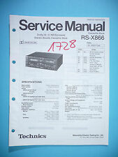 Service MANUAL PER TECHNICS rs-x866 cassette deck, ORIGINALE