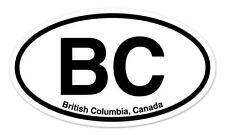 "BC British Columbia Canada Oval car window bumper sticker decal 5"" x 3"""