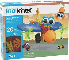 Kid K 'nex Wings & Ruedas Construir conjunto (65 piezas) Vástago De Juguete 20 Modelos