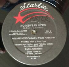 """New listing Kreamcicle Feat Paula Anderson- No News Is News-Starlite B353 yr1983 12"""" Electro"""