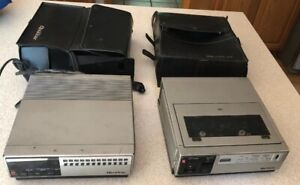 Quasar VP5430WQ TUNER & Video Cassette VHS Player Recorder Made Japan 2 Pc vtg