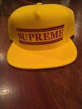 eb5e5cb4163 Supreme Snapback Yellow Hats for Men for sale