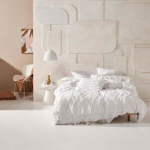 Linen House Amadora White Doona Quilt Cover Set Queen, King and Super King Sizes