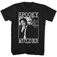 The X Files Science Fiction Tv Show Spooky Mulder Boxed Photo Adult T Shirt