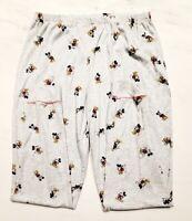 Disney Women's Pajama Bottoms - Mickey Mouse - Size Large