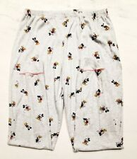 Disney Women's Pajama Bottoms - Mickey Mouse - Size Large