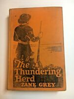 THE THUNDERING HERD by Zane Grey – 1925 FIRST EDITION – Grosset & Dunlap