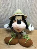 """Disney Goofy Plush Soft Toy Teddy 11"""" Outfit Collectable Mickey Mouse Dog Safari"""