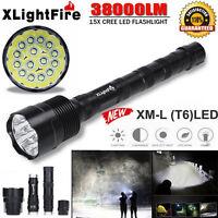 38000 Lumen 3-15x Cree Xml T6 Led 5 Modus 18650 Außen Super Taschenlampe Fackel