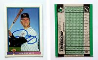 Jim Presley Signed 1991 Bowman #646 Card San Diego Padres Auto Autograph