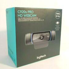 New Logitech HD Pro Webcam C920S Privacy Shutter Video Calling 1080p SHIPS FAST