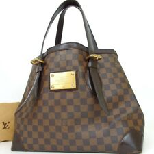Authentic LOUIS VUITTON N51204 Damier Hampstead MM Tote Bag PVC/leather[Used]
