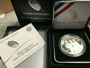 2014-P United States Mint Civil Rights Act of 1964 Proof Silver Dollar