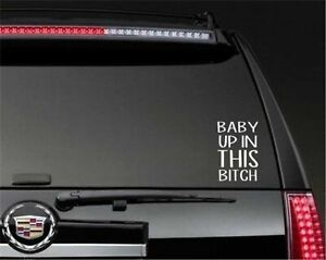 Baby Up In This Bitch - Decal