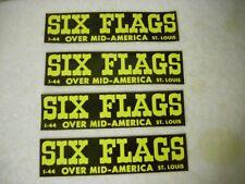 Six Flags Over Mid America Bumper Sticker Qty 4