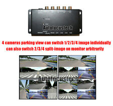 360° Full View Parking Aid 4 Cameras Split-image Screen Video Monitor W/O Cables