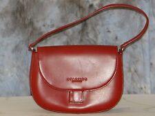Kenneth Cole Reaction Purse Handbag Satchel Small Shoulder Red Front Snap