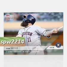 2018 Topps Now Evan Gattis #324 1st Astros Player with 5 RBI Back-to-Back Games