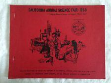 California Annual Science Fair Booklet 1968 +