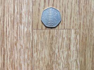 50p Kew Gardens 2019 Genuine coin Royal Mint Brilliant Uncirulated Very Rare