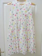 Joules Polka Dot Dress Age 9 - 10 Spot Fit and Flare Party Occasion White