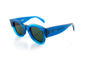 CELINE ZOE Sunglasses  Ladies Petrol Blue Crystal Sunglasses CL 41446/S MR8 QT
