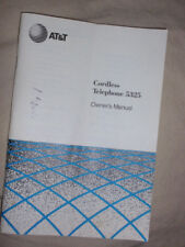 At&T Cordless Telephone 5325 Owner's Manual dated 1990