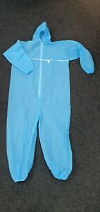 Disposable Coveralls Blue Hood  Boiler suit Painters Protective with foot covers