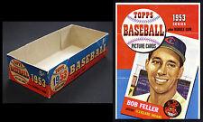 1953 Canadian Topps (O-Pee-Chee) 5¢ Wax Box & Card poster window display. RARE!