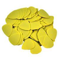 100pcs Medium 0.71mm 351 Delrin Guitar Picks Plectrums Matte Yellow