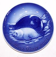 "STUNNING 2001 B&G BING & GRONDAHL DENMARK MOTHER'S DAY SEAL WITH PUP 6"" PLATE"