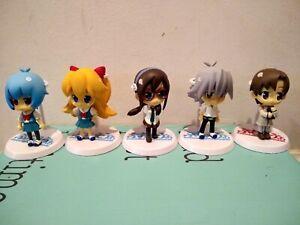Neon Genesis Evangelion Figure Lot School Set Asuka Rei Kaworu