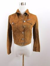 REPLAY Women's Designer Vtg Fashion Velvet Casual Cotton Denim Jacket sz XS BD15