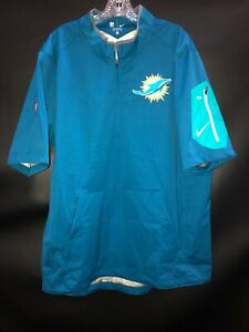 MIAMI DOLPHINS TEAM ISSUED/GAME USED ON FIELD NIKE 1/4 ZIP UP WINDBREAKER SHIRT