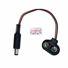 9v Spy CCTV Camera Battery Clip Adaptor w 2.1mm DC Plug - UK SELLER