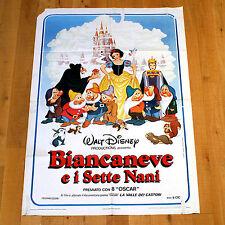 BIANCANEVE E I SETTE NANI poster manifesto Disney Snow White and the Seven Dwarf