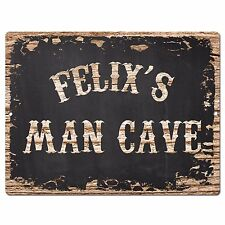 PP2993 FELIX'S MAN CAVE Plate Chic Sign Birthday Father's Day Decor Gift