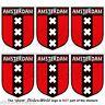 AMSTERDAM Scudo Paesi Bassi Olanda Adeisivi per Cellulare 40mm Stickers x6