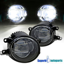 For Toyota Lexus Projector LED Fog Lights Driving Bumper Lamps Black Inner Bezel
