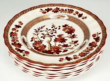 "Copeland Spode Orange Indian Tree Set of 7 bread Plates - 6 1/2""~Backstamp A"
