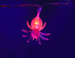 LED Red Spider Lights 1.3m- Great for Halloween Parties and Decorations