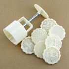 Moon Cake Mold Hand Pressure Mold Baking Mold+1 Printing Dessert Plate Tool.