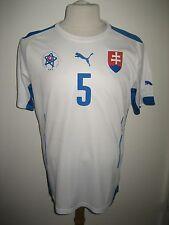 Slovakia MATCH WORN home FARKAS sfz football shirt soccer jersey trikot size L