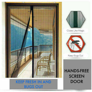 Magic Mesh Curtain Magnetic Fastening Mosquito Fly Bug Insect Net Door Screen