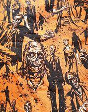 Alexander Henry orange zombie! print polycotton fabric fat quarter