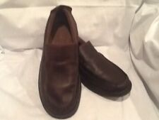 Sperry Top-Sider Harpoon Mens Brown Leather Slip-On Loafers Shoes Size 9.5 M