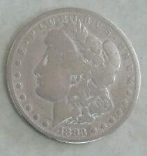 1883 Morgan Silver One Dollar Round United States.